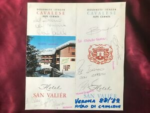 5 Autografi originali HELLAS VERONA 88/89-Bagnoli/Troglio/Galderisi+2-IN PERSON