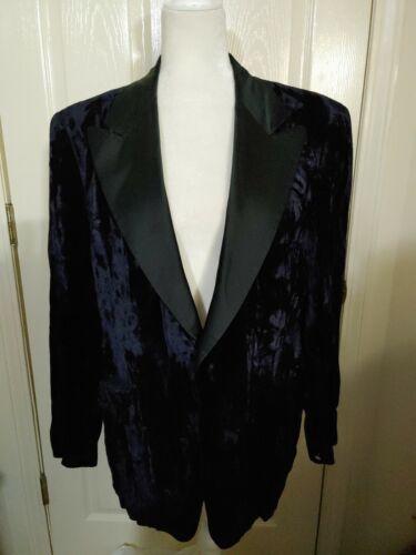Vintage After Six Mens Blue velvet 1 Button black