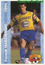 088 FAROUK HADZIBEGIC BOSNIA FC.SOCHAUX CARD CARTE FOOTBALL 1994 PANINI