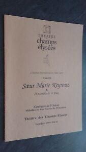 Programa Theatre Las Champs Elysees L Salomón Orient Junio 1996 Tbe