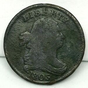 1803 Draped Bust Half Cent  Close Fraction Closed 3 Variety - Scares.#2