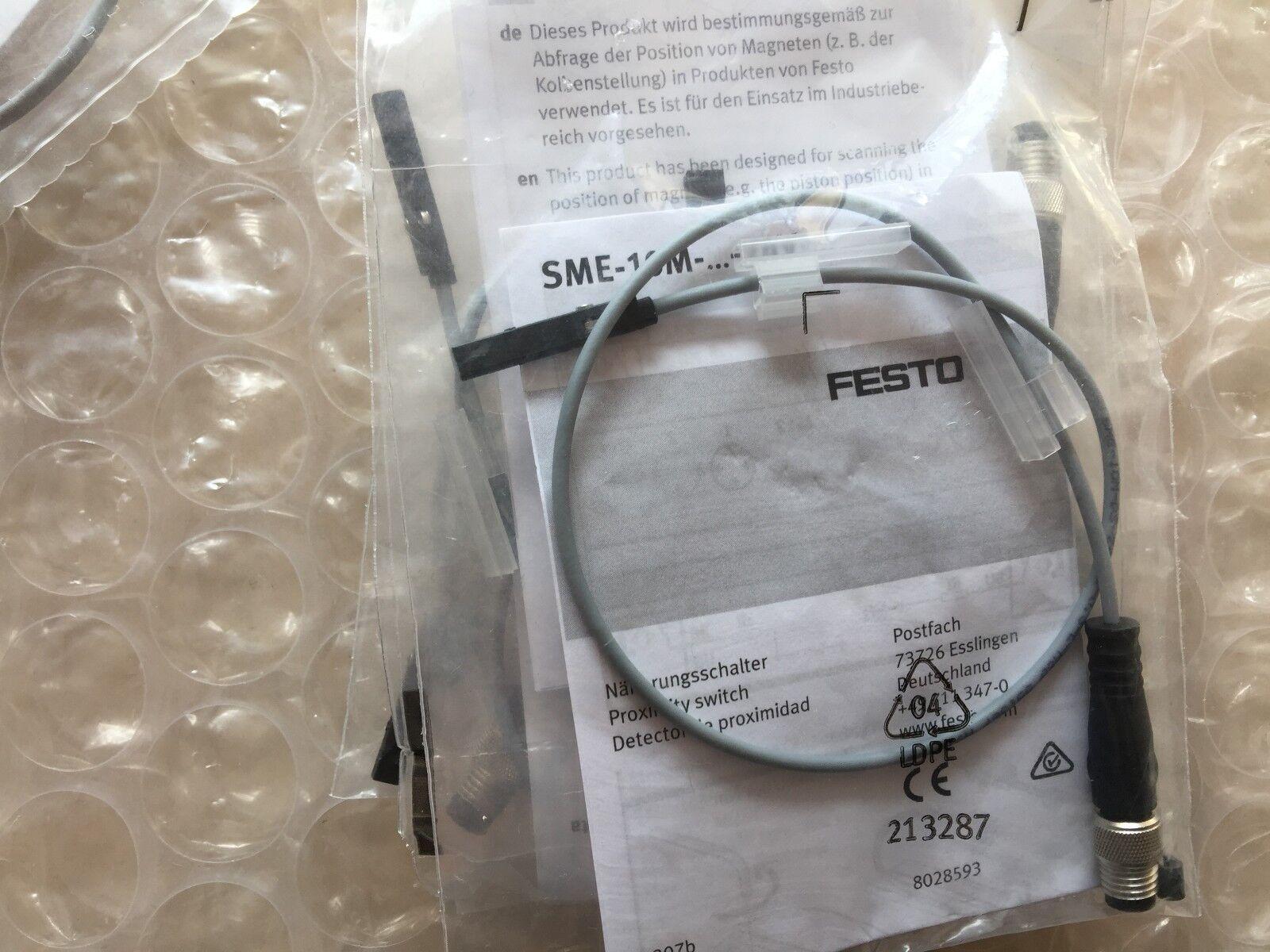 1pcs New FESTO Sensors SME-10M-DS-24V-E-0,3-L-M8D 551367
