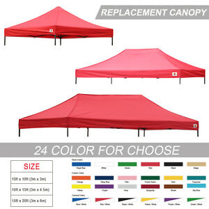 AbcCanopy Ez Pop Up Replacement instant canopy gazebo tent Top Cover ...