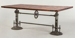 Image Is Loading 82 034 L Industrial Design Dining Crank Table