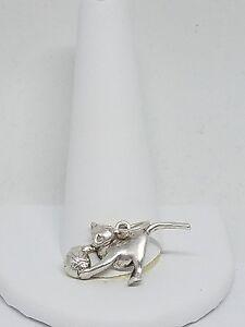925 Sterling Silver Cat Pendant Xydyakac-07222740-499559734