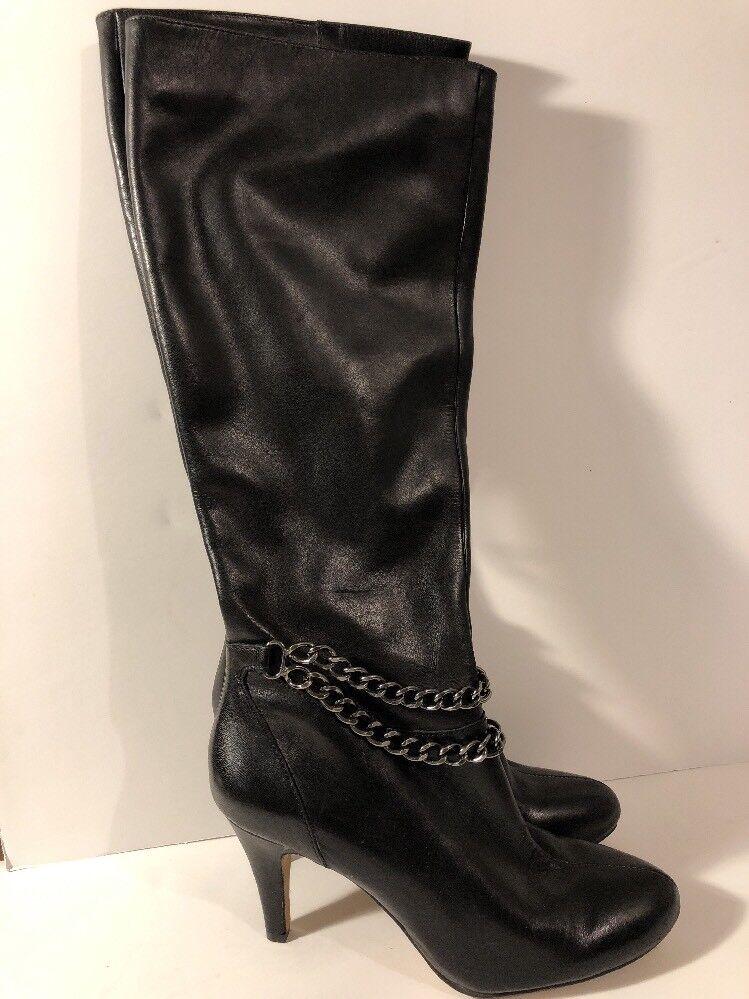 n ° 1 online Vince Camuto  Vo-Valli  nero nero nero Leather Stiletto Heel stivali Dimensione donna's 6M  una marca di lusso