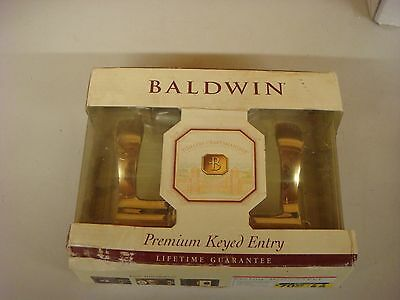 Baldwin Left Hand Wave Lever Keyed Entry Lock 95255-003-LENT BRASS NEW IN BOX