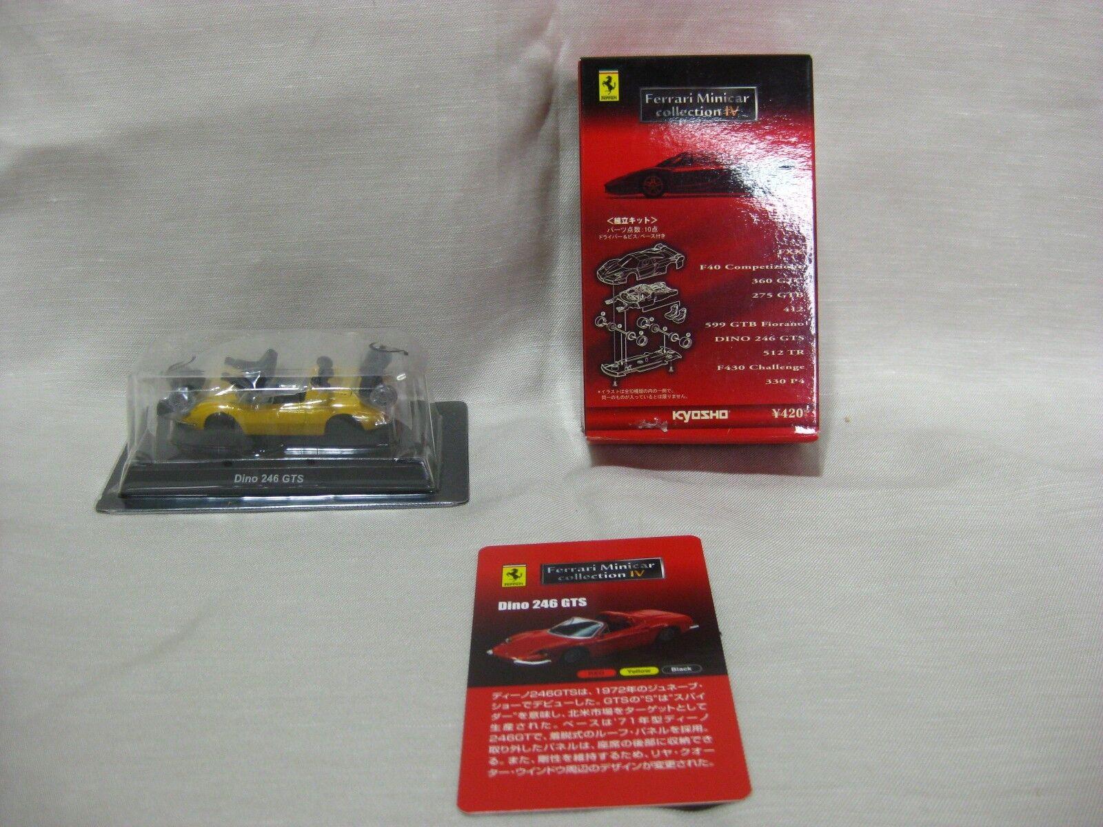 1 64 Kyosho Ferrari Dino 276 GTS gul tärningskast modelllllerler bil