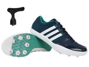 Da Uomo Asics lunga Jump Flame G617Y Blu Pro Spike shoes Lacci Sport Scarpe Da Ginnastica