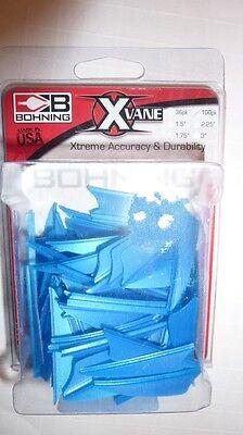 Neon Blau Suitable For Men And Women Of All Ages In All Seasons 20 Stück Bohning Federn X-vanes 1,75 Zoll Kunststofffedern