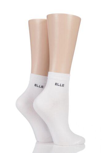 Ladies 2 Pair Elle Bamboo Anklet Socks