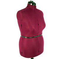 ADJUSTABLE MANNEQUIN DRESSFORM DRESS FORM in RED - Large/New - TriPole Stand