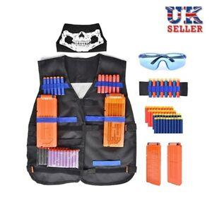 UK Outdoor Game Tactical Vest Kit For Nerf Guns N-Strike Elite Series Safety Set