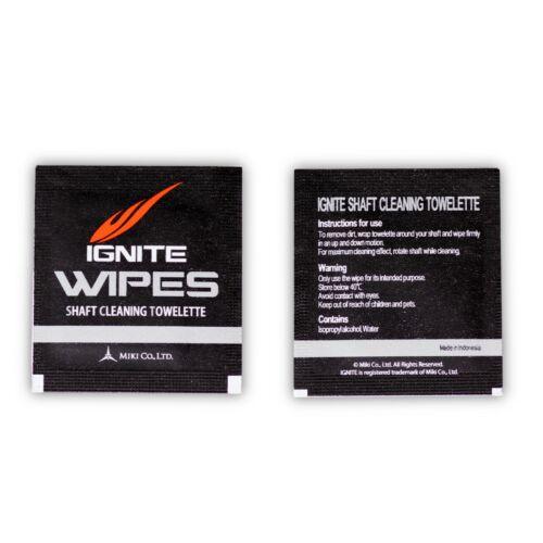 Ignite Wipes Pool Billiard Cue Shaft Cleaning Towelettes 10 pcs