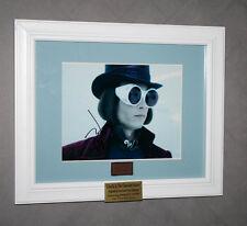 JOHNNY DEPP Signed Wonka, Charlie & Chocolate Factory PROP, DVD, Frame COA, UACC
