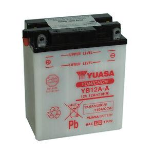 Batterie-Moto-Yuasa-YB12A-A-12V-12-6ah-150A-134x80x160mm-ACIDE-OFFERT