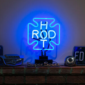 36cm-Haut-vrai-verre-Neon-SIGNE-rat-BARRE-GARAGE-LAMPE-BUREAU-AUTOMOBILE-hot-rod