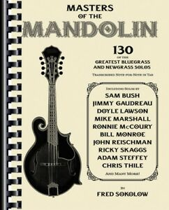 Masters Of The Mandolin Sheet Music 130 Of The Greatest Bluegrass
