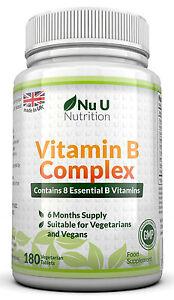 Vitamin-B-Complex-180-tablets-B1-B2-B3-B5-B6-B12-D-Biotin-amp-Folic-acid
