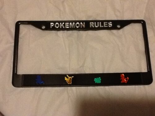 Pokemon Rules License Plate Frame Brand New!