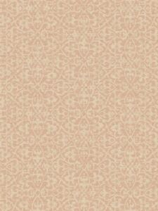 Wallpaper-Designer-York-White-Textured-Lace-Trellis-on-Pink-Faux-String