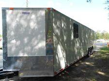 34' 2 car hauler/cargo trailer enclosed 34' Plus V-NOSE   2017