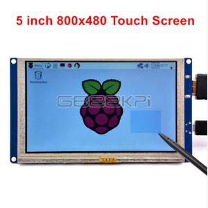 GeeekPi 5 inch 800*480 LCD HDMI Touch Screen Display for Raspberry Pi 4B/3/2/B+