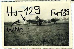 Orig-Foto-Luftwaffe-Flugzeug-Henschel-Hs-129-Focke-Wulf-Fw-189-Russland