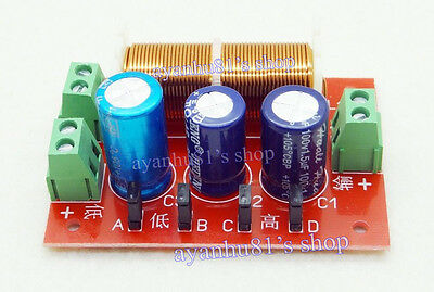 Ajustable Treble/Bass Frequency Divider 2 Way Speaker Audio Crossover Filters