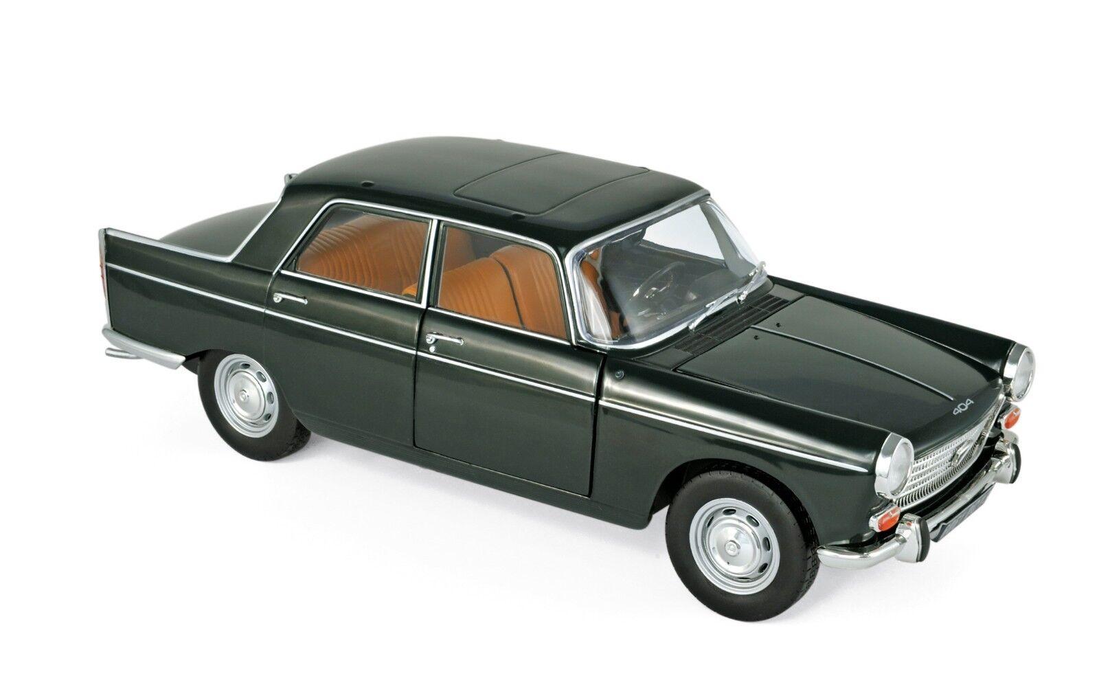 NOREV 184833 - Peugeot 404 1965 Antique vert  1 18