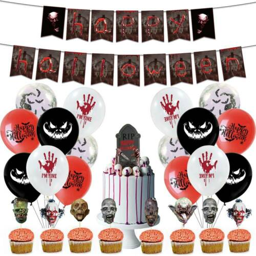 Hot Happy Halloween Party Supplies Decorations Balloon Scary Skull Home Decor