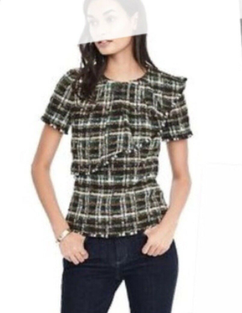NEW Banana Republic Limited Edition Clarenson French Tweed Top Petite SZ P2