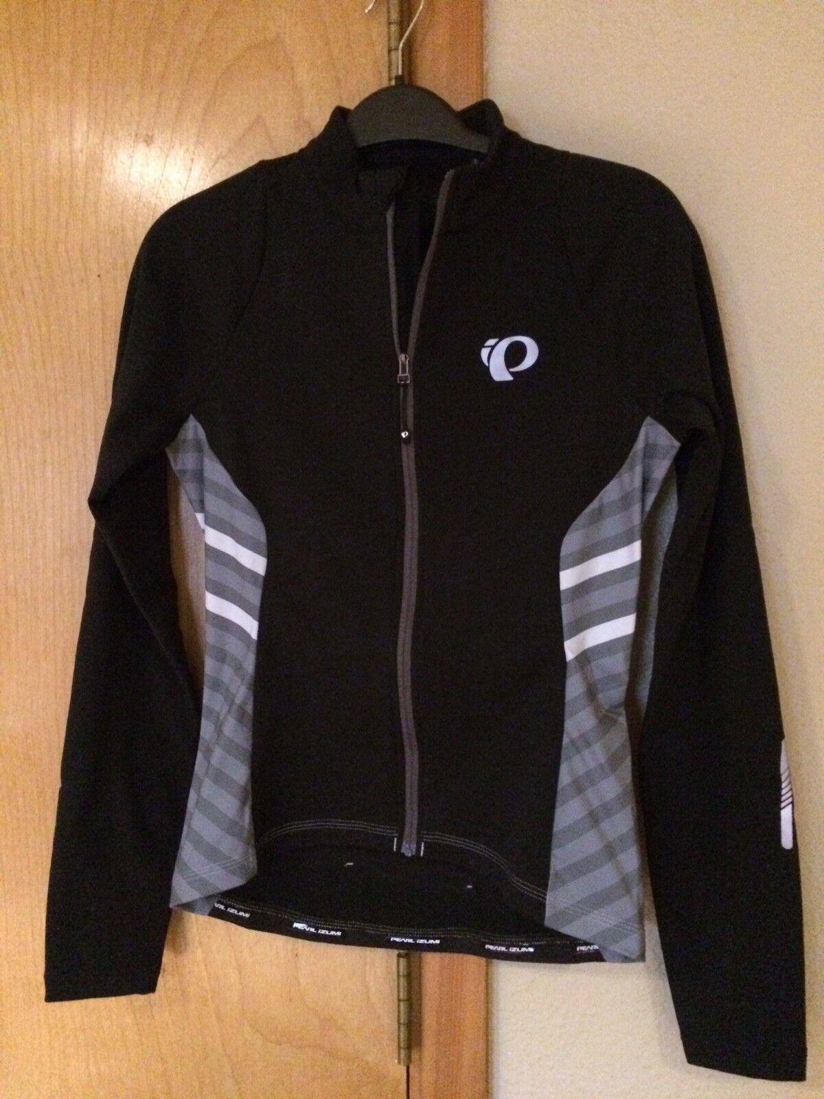 100 NWT Pearl Izumi Select Pursuit Thermal Long Sleeve Full Zip Bike Jersey W S