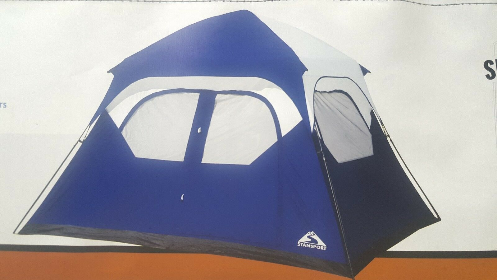Stansport Denali Instant Family Tent - person 6 person - 10 x 9 ft Blau  NEW 0a19ea