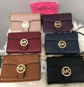 23b0d8204 NEW MICHAEL KORS Womens MK VANNA Shoulder Bag Purse Phone Crossbody ...