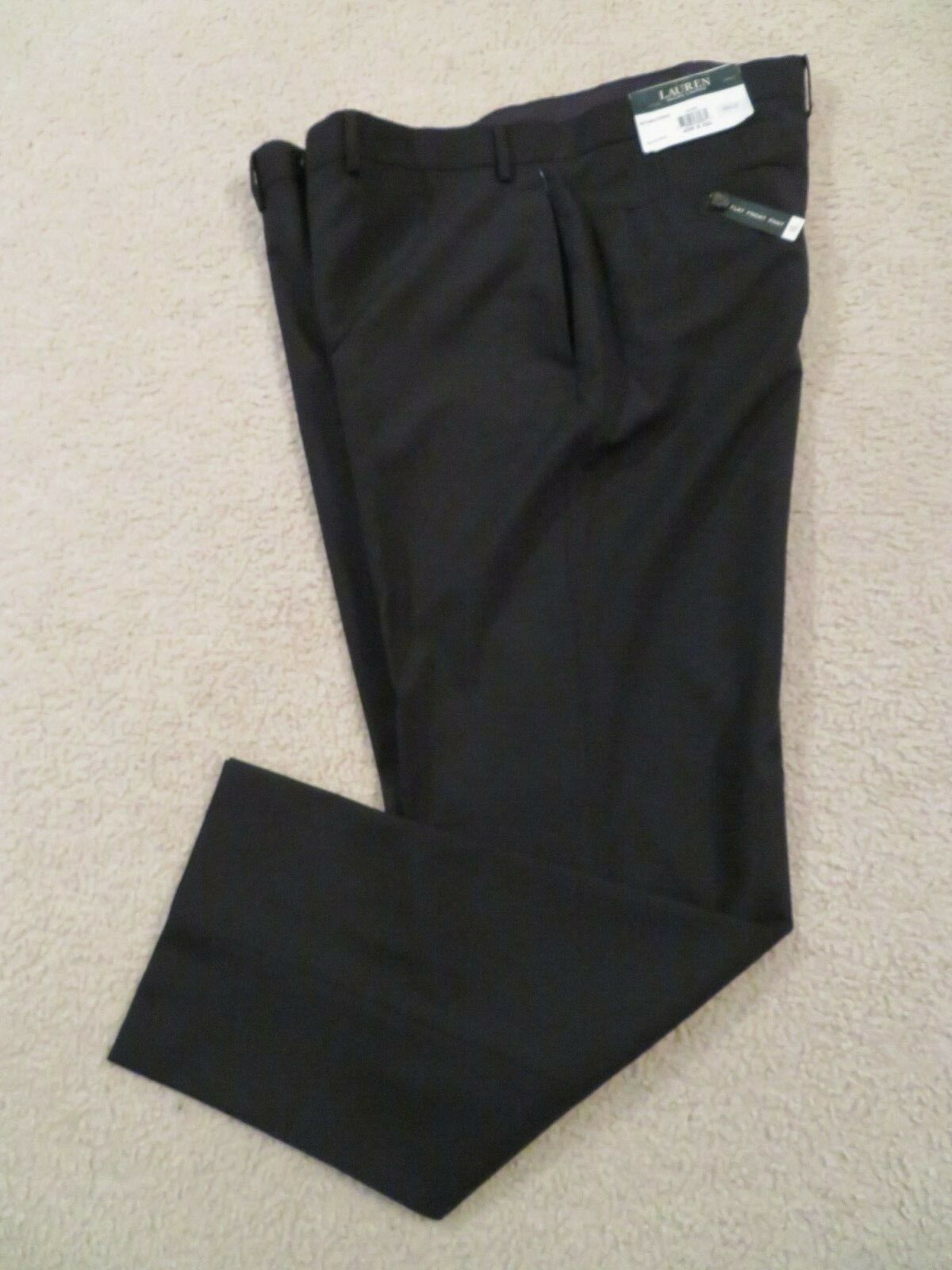 LAUREN RALPH LAUREN LINED WOOL-POLY DRESS PANTS- MADE IN INDIA -40 X 32 -NWT