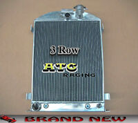 3 Rows Aluminum Radiator For 1932 Ford Chopped Ford Engine Cooler At/mt 32