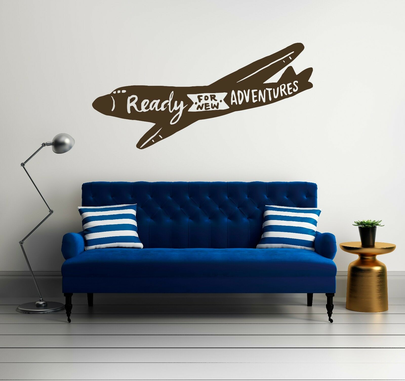 Ready For New Adventures  - Travel Quote -  Wall Decal Decor For Home Airplane