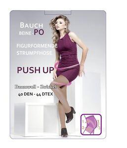 Push-Up-Strumpfhose-40den-figurformende-Bauch-Beine-Po-Shape-bis-Ubergroesse-52