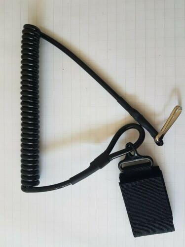 PISTOLA di ritenzione Tactical cordino a spirale pistola-Nero