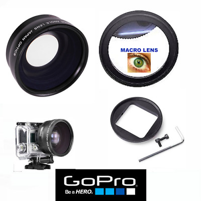 HD FILTER KIT HD FISHEYE MACRO LENS GIFT FOR GOPRO HERO5 BLACK FAST SHIPP