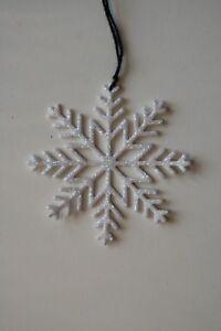 Copo De Nieve Goma Eva Purpurina Navidad De 6 Cm 15 Uds Blanco Con