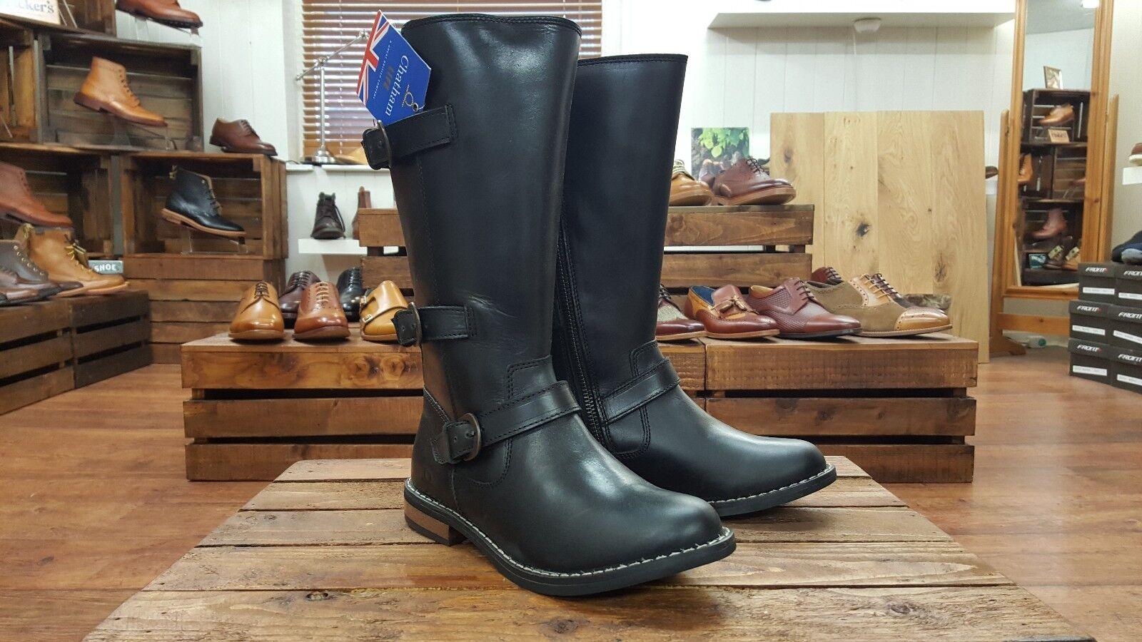 Chatham    Faye    Negro botas para mujer Becerro Alta    rojoucido fue