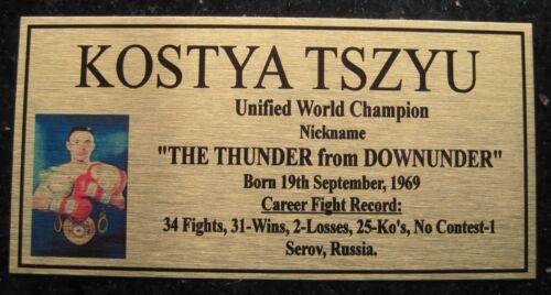 "KOSTYA TSZYU Boxing Champions Gold  Photo Plaque /""FREE POSTAGE/"""