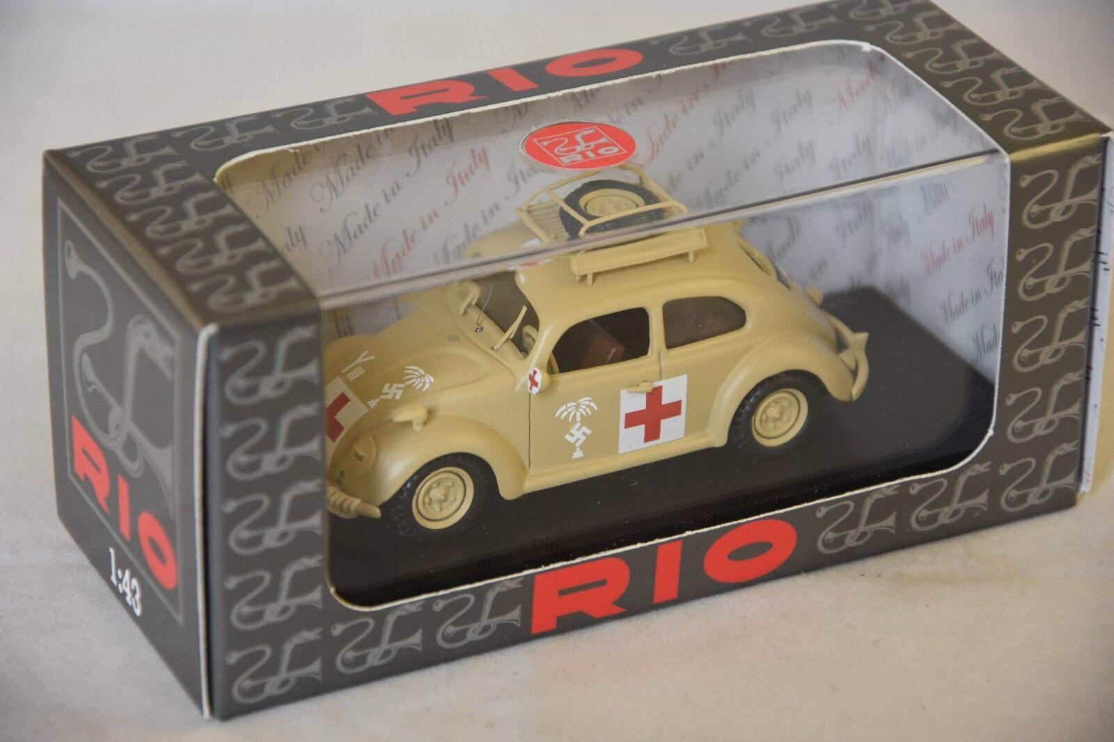 RIO 4525 - Volkswagen Coccinelle Ambulance armée Africaine - 1941  1 43