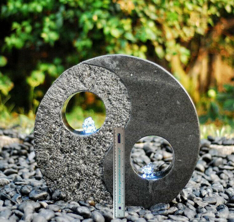 Granite water Feature - Yin Yang sold granite carved and polished.