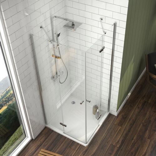 Duschkabine 70x80 Eckeinstieg Echtglas Dusche Duschabtrennung Scharniertür 185cm
