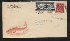 US Rod Shop, Bellingham, Wash  nice fish  ad cover   1928   MS1006