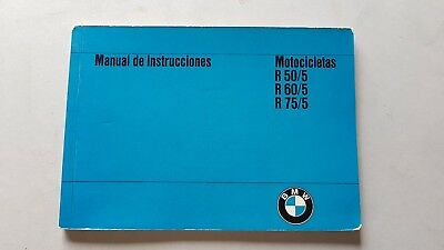 Forte Bmw R 50\5 - R 60\5 - R 75\5 1971 Manuale Uso Originale Moto Spagnolo Espanol