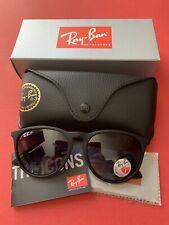 Ray-Ban Erika 4171 622/8G 54-18 Black Frame Grey Gradient Polarized Lens Unisex Sunglasses